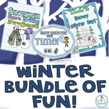Winter Bundle; math, writing and fun!