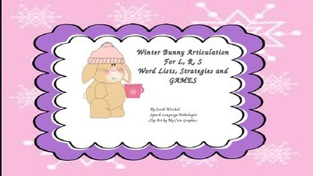 Winter Bunny L,R,S Word Lists, Strategies and Games