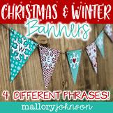 Christmas Banners - Red and Aqua