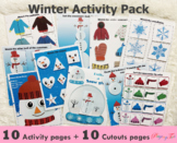 Winter Busy Book | Snowman Activities | Winter Clothes Act