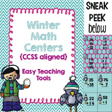 Winter CCSS Math Centers {4} for 2nd grade