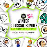 Winter COLOSSAL Bundle Clip Arts