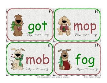 Winter COMBO Short a e o Word Families Write the Room