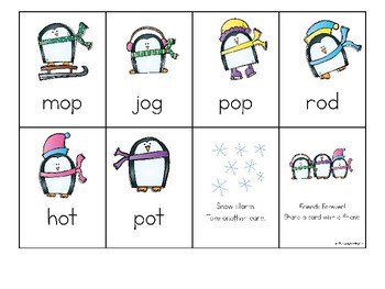Penguins Phonics Activity for CVC