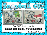 CVC Literacy Center- SNOWBALL CVC- Winter CVC Literacy Activities