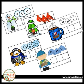 Winter CVC:  Short Vowel Bundle