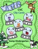 Winter CVC Snow Globe Clip Card Literacy Centers