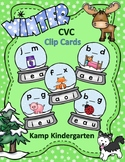 Winter CVC Snow Globe Clip Card Literacy Centers