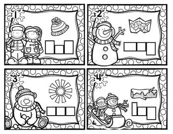 Winter CVC Task Card Activities
