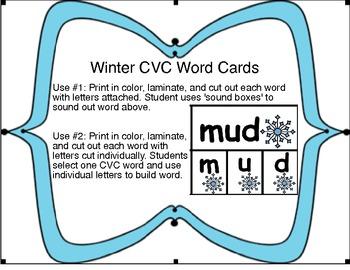 Winter CVC Word Cards