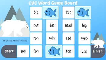 Winter CVC Word Game