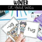 Winter CVC Word Sorts: Literacy Center Activities