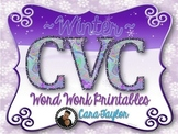 Winter CVC Word Work Printables