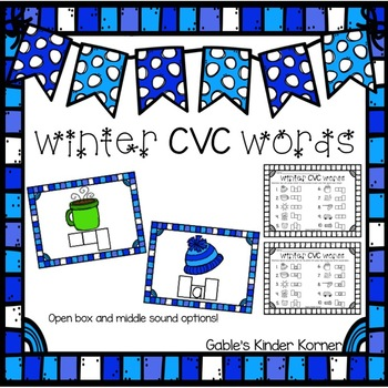 Winter CVC Words Activity