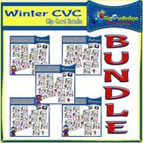 Winter CVC Words Clip Cards BUNDLE