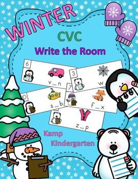 winter cvc write the room by kamp kindergarten tpt. Black Bedroom Furniture Sets. Home Design Ideas