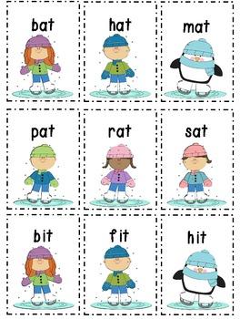 Winter CVC short vowel sort