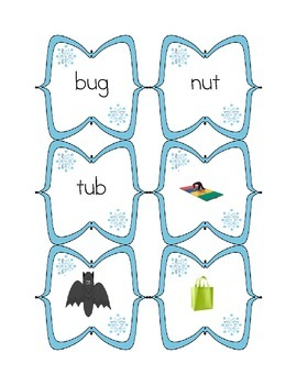 Winter CVC word activities