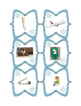 Winter CVC word activities