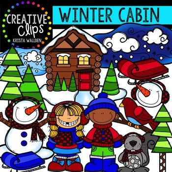 Winter Cabin {Creative Clips Digital Clipart}
