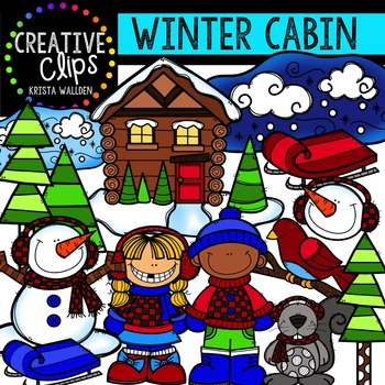 Winter Cabin {Creative Clips Digital Clipart}