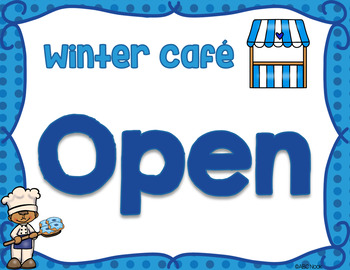 Winter Cafe Dramatic Play and Writing Center