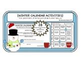 Winter Calendar Activities for Articulation & Speech Fluency