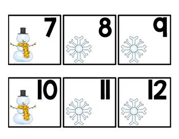 Winter Calendar Cards