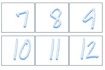 Winter Calendar Numbers
