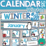 Winter Calendar Numbers