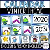 Winter Calendar Numbers for December January February