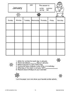 Winter Calendars