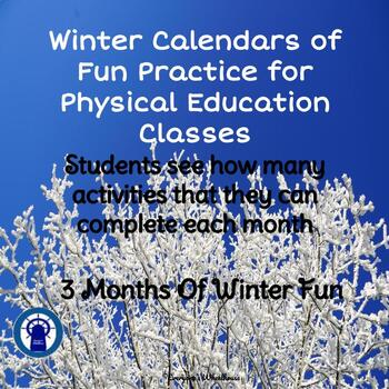 Winter Calendars of P.E. Fun