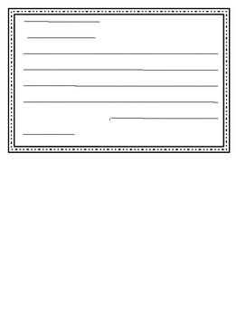 Winter Card Template-Writing Center