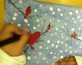 Expressive Winter Cardinal Art with VIDEO INSTRUCTIONS (do