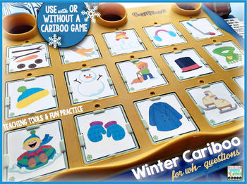 Cariboo Winter for language therapy {with QR code videos of winter}