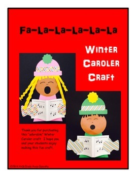 Winter Caroler Craft