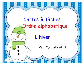 Winter - Cartes à tâches, l'ordre alphabétique - L'hiver