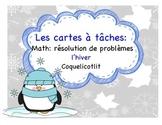 Winter - Cartes à tâches : résolution de problèmes : l'hiver