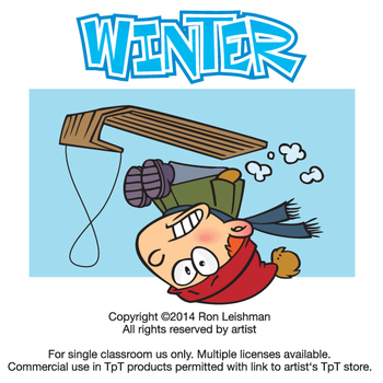 Winter Cartoon Clipart Vol. 1