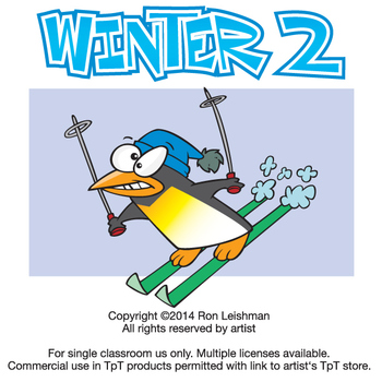 Winter Cartoon Clipart Vol. 2