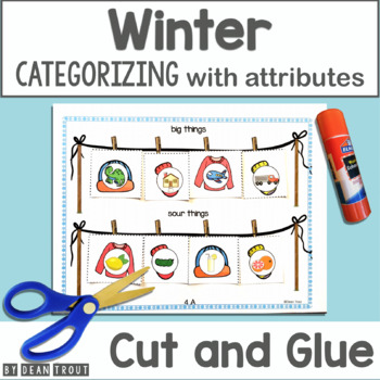 Winter Categories for Speech Therapy With Attributes No Prep