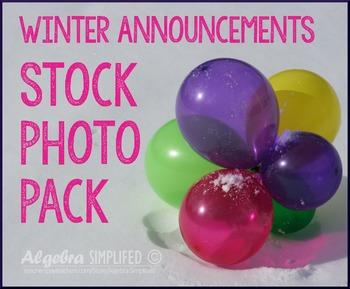 Winter Celebration/ Announcements Stock Photos