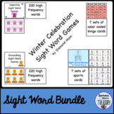 Winter Celebration Sight Word Games Bundle
