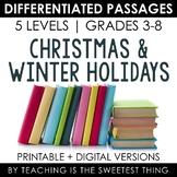 Christmas & Winter Holiday Differentiated Passages Bundle