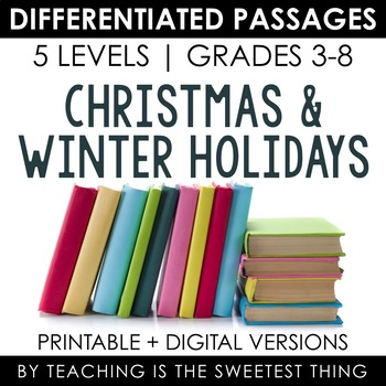 Winter Holiday BUNDLE: Holiday Differentiated Reading Passages