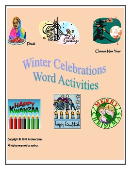 Winter Celebrations Word Fun Pack