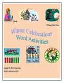 Winter Celebrations Word Fun Pack