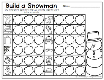 Winter Center Activities (Literacy)