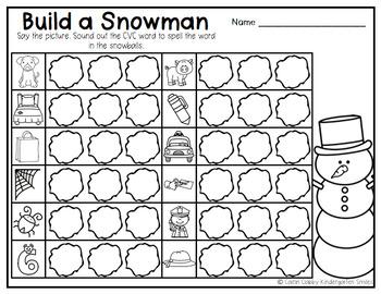 Winter Center Activities (Literacy)